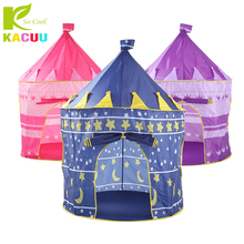 купить Toy Tents Adorable Castle Playhouse Space Theme Foldable Little Prince And Princess Tent Sturdy Game House For Children Gift Toy дешево
