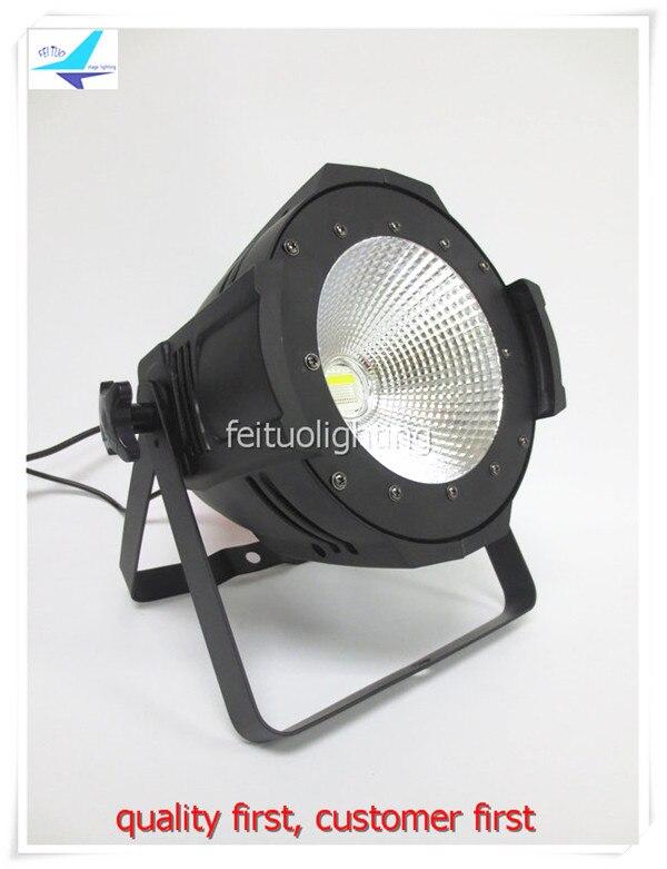 2pcs/lot Power 100W LED COB Par Light RGBW 4in1 Stage Aluminum Spot Strobe DMX Par Can COB 100W Disco DJ Show Bar Party Lighting