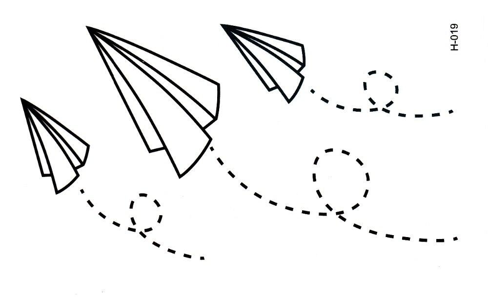Achetez en gros avion de papier autocollants de tatouage en ligne des grossistes avion de - Avion en papier tatouage ...