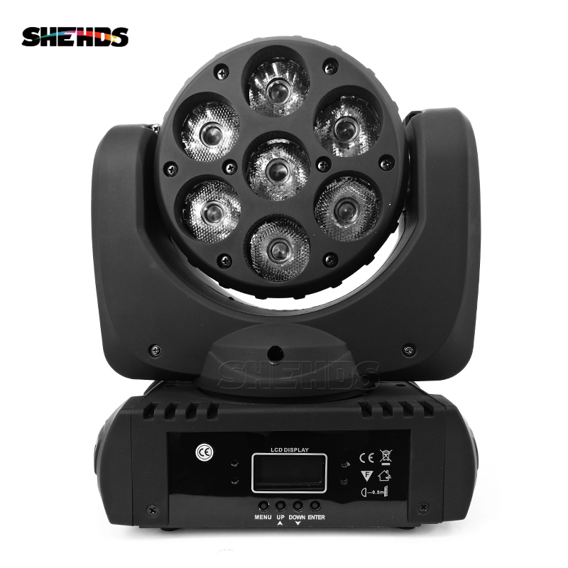 Fast Shipping LED Beam Moving Head Light 7x12W RGBW Quad LEDs With Excellent Pragrams 9/16 Channels DMX DJ Night Party Lights стоимость