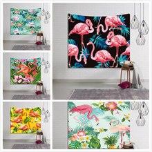 Summer Beach Towel Moroccan Decor Tapestry Cranes Flamingo Printing Wall Hanging Stork Blanket Mandala Marabou Tablecloth