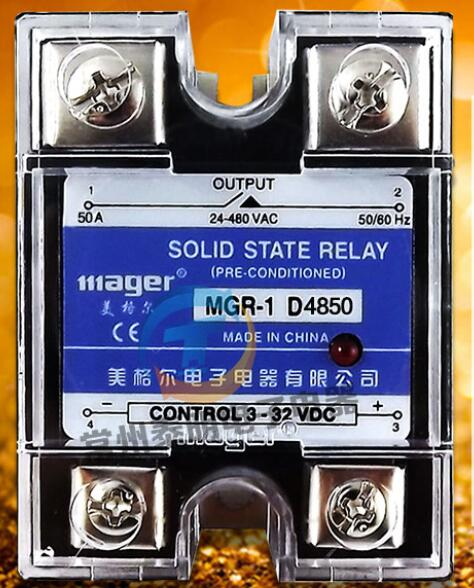 mager Genuine new original Single - phase solid - state relay 50A DC DC control AC 220V MGR - 1 D4850 mager genuine new original ssr single phase solid state relay 20a 24vdc dc controlled ac 220vac mgr 1 d4820