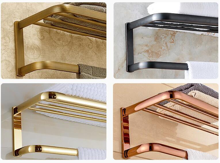 Oil Rubbed Bronze total brass Bathroom Bath Towel Rack Wall Mounted Bath Shower Accessory Towel Bar Storage Holder цена