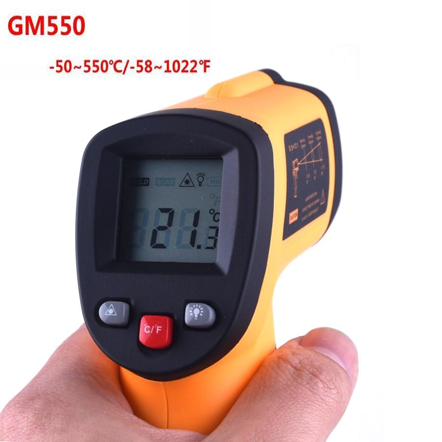 Prix pour GM550 IR Infrarouge Thermomètre LCD Sans Contact Numérique Laser Température