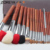 ZOREYA Marca Achiote Alto Grado Mango 20 unids Cooper Férula Pelo de Animales Cepillos Del Maquillaje Profesional Cosméticos Maquillaje Cepillo Conjunto