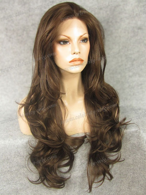 N12 6/8 Best Sales Top quality extra long brown curly ...