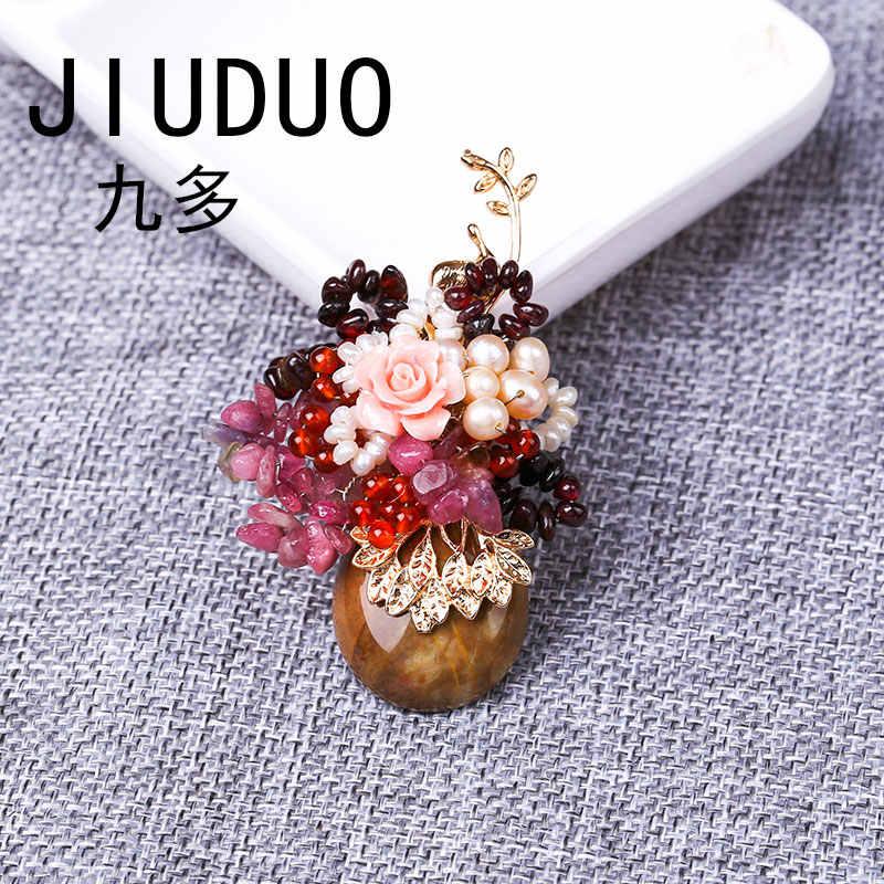 Di modo di cristallo della perla del rhinestone grandi spille Zircone del fiore di pin vestito del vestito fibbia accessori fibbia fibbia femmina pin selvaggio Della Corea