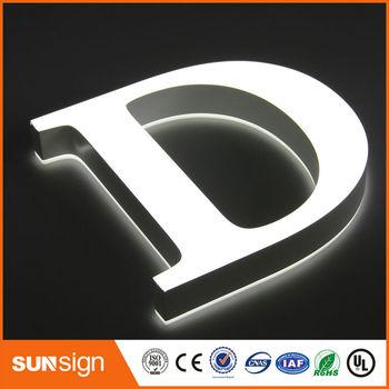 Tamanho Pequeno Letras Letras De Acrílico Mini LED Frontlit