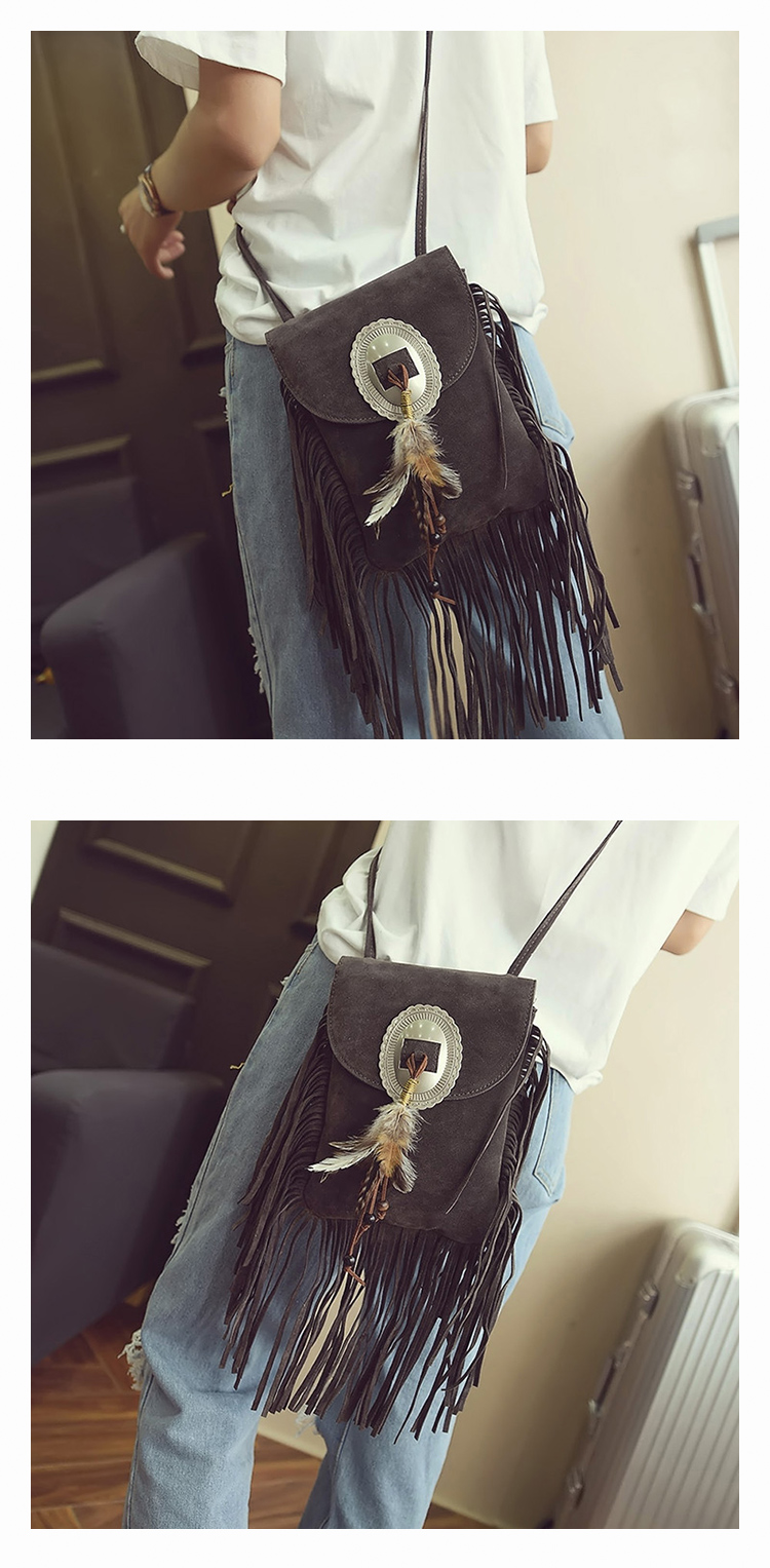 Female Small suede Bag Brown Beaded Feathers Hippie American Indian Tribal Bohemian Boho Chic Ibiza Style Pouch Bag (14)