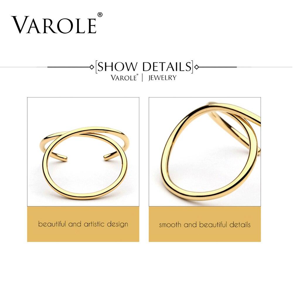 VAROLE Einfache Linien Übertrieben Manschette Armbänder & Armreifen - Modeschmuck - Foto 3