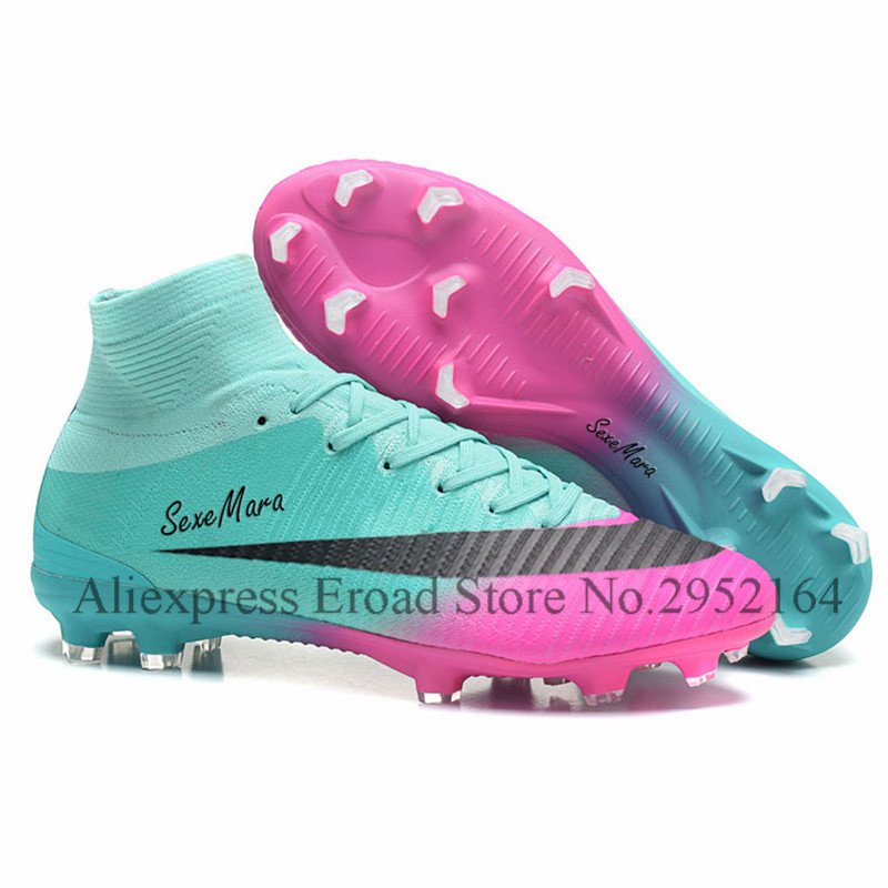 soccer shoes FG 2018 soccer cleats superfly original adult high ankle football boots men professional sapatos de futebol homens health top soccer shoes kids football boots cleats futsal shoes adult child crushed breathable sport football shoes plus 36 45