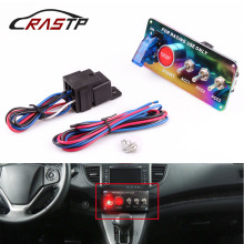 RASTP - Universal Car Auto Switch Pane Racing 12V Ignition Toggle Panel Engine Start Push Button Neo Chrome RS-BOV004