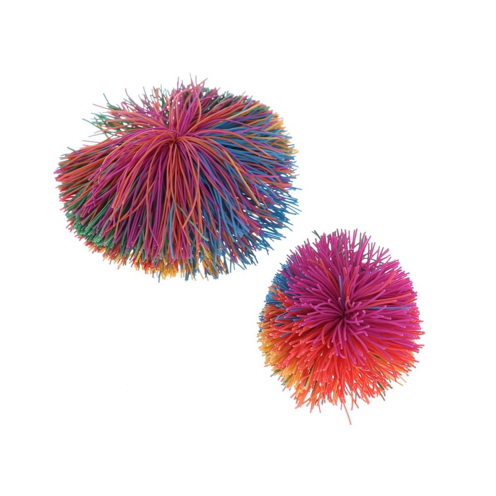 Big 6cm/9cm Fidget Sensory Koosh Ball Baby Rainbow Funny Stretchy Ball Stress Relief Kids Autism Special Needs