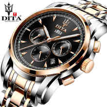 DITA Men's Luxury Skeleton Watch Clock Male Stainless Steel Watchband Automatic Mechanical Wristwatch Outdoor Sport Watch