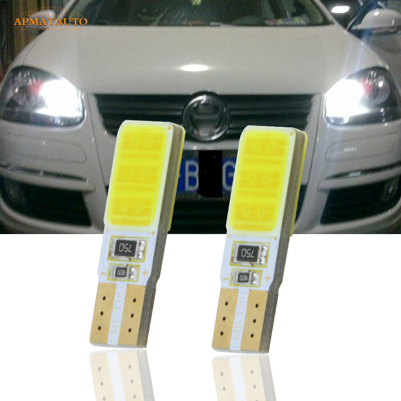 2x T10 W5W CANBUS LED Side Parking Lights Marker Lamps Bulb  For VW Passat B5 B6 CC Touran Tiguan Scirocco Golf GTI Sagitar