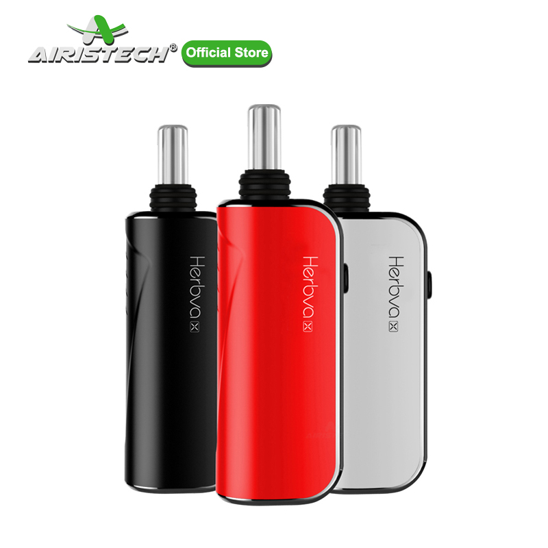 AIRISTECH Airis Herbva X 3in1 vaporisateur d'herbes sèches pour cire/huile avec Kit E-Cigarette à chambre en céramique à contrôle de température à 3 balles