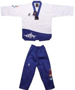 Image 2 - Nova flor fogo taekwondo uniforme adulto tae kwon do estrada homem e mulher de mangas compridas taekwondo costura doboks