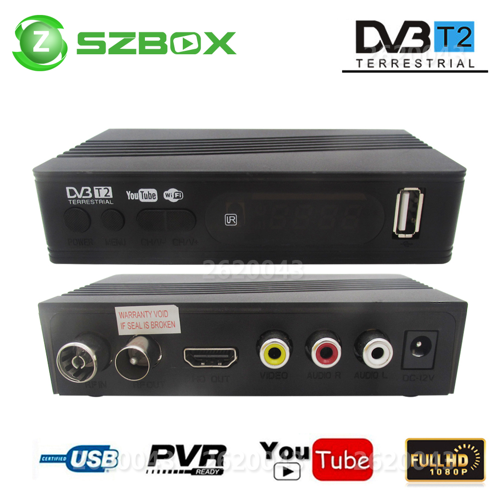 DVB-T2 DVB-T Satellite Receiver HD Digital TV Tuner Receptor MPEG4 DVB T2 H.264 Terrestrial TV Receiver DVB T Set Top Box Vs K3