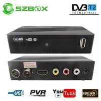 DVB-T2 DVB-T Receptor de satélite HD Digital TV sintonizador Receptor MPEG4 DVB T2 H.264 terrestre Receptor de TV DVB T Set Top caja del K3