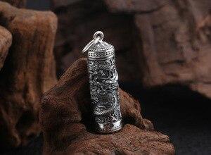 Image 2 - Yeni 100% 925 gümüş ejderha kolye tibet Gau kutusu ejderha budist namaz kutusu kolye