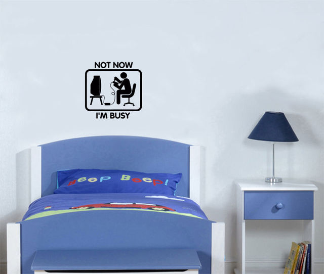 Nice Not Now Iu0027m Busy Gamer Games Xbox PS Console Bedroom Decal Wall Sticker Free