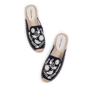 Image 3 - Tienda Soludos Dép Nữ Mới Xuất Hiện Gai Cao Su Vải Bông Hỗn Hợp Màu Sắc Mùa Hè Pantufas Zapatos De Mujer Trượt