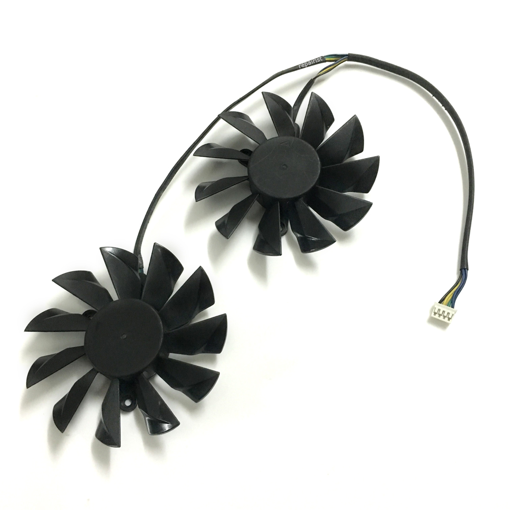 2 Pcs/Lot graphics card Fan VGA Cooler fans For MSI GTX780 N780 gtx980TI R9 290X Lightning Video card cooling книги эксмо wordpress для начинающих