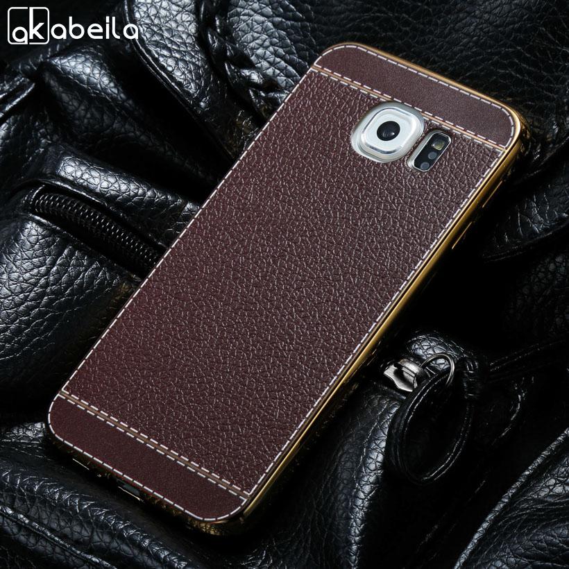 AKABEILA Телефон чехол для samsung Galaxy S6 SVI G920F G920FD G920FQ G920I G920A G920T гальваническим кремния мягкой ТПУ задняя обложки