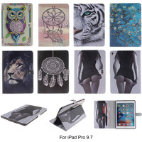 For Apple IPad Pro 9 7 Case Fashion Animal Cartoon Pattern PU Leather With Card Slot