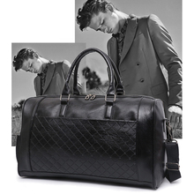 PU Leather Travel Bag Women Men Male Waterproof Duffel Luggage Gym Bag Girls Boy Sports Shoulder Handbag Traveling Overnight Bag