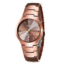 Fashion Luxury Brand SOLLEN Men Watch Tourbillon Hollow Calendar Quartz Wristwatches Male Casual dress Clocks Relogio 2016