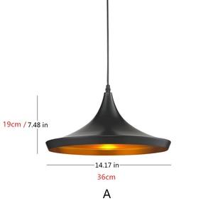 Image 3 - Подвесной светильник E27 в европейском винтажном стиле, подвесной светильник для ресторана, украшения дома