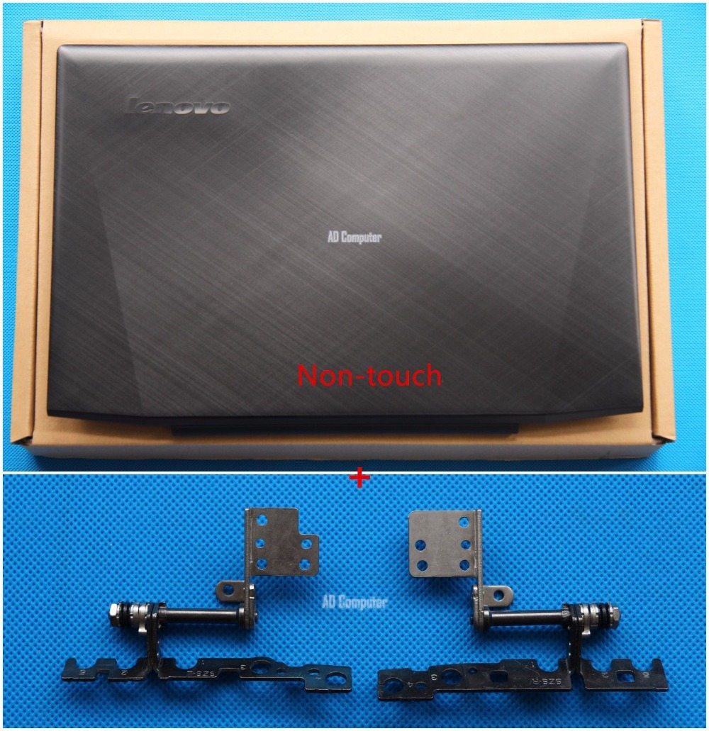 New Original Lenovo Y50-70 15.6 Lcd Rear Back Top Cover Lid + Hinges Non-Touch AM14R000400 AM14R000100 new original for lenovo thinkpad s5 s531 s540 lcd rear lid back cover top case black 04x1675 non touch 04x5206 touch
