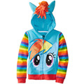 Retailers 2016 Spring  Autumn Baby Jacket Girls Fashion Jacket Boy Coat  Cartoon Jacket Hooded Zipper Girl Jacket Kids Clothes