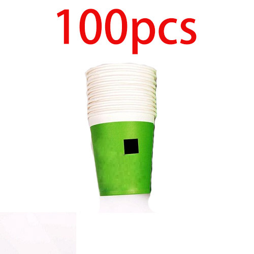 minecraft paper plates dishes creeper green paper cups disposable