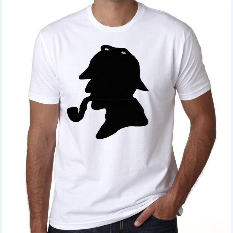 yiwuliming 2017 New Hot Sherlock <font><b>Holmes</b></font> detective sherlock t-shirts with short sleeves summer wear t shirt