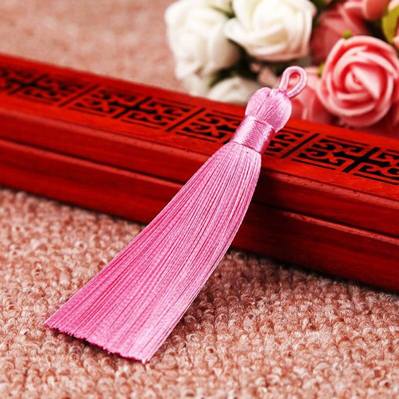 25 цветов, Новое поступление, высокое качество, горячая Распродажа, 1 шт., ручная работа, уникальные красивые шелковые кисточки, свадебные ювелирные аксессуары - Цвет: Розовый