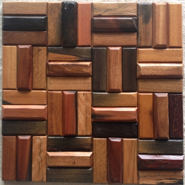 Wood Tile Kitchen Backsplash: Aliexpress.com : Buy 3D Natural Wood Mosaic Tile, Wood