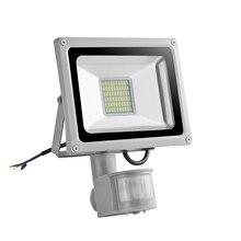 HUAN JUN SHI Sensor LED Flood Light 30W 220V Floodlights 60 LEDs SMD5730 Infrared Lamp Outdoor Lighting 2PCS
