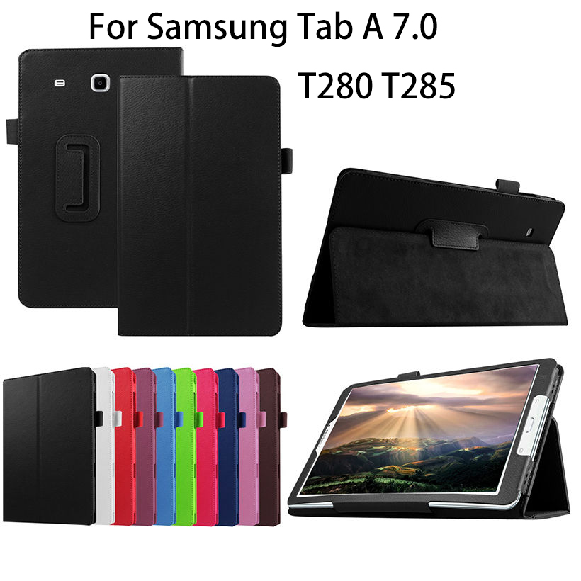2016 PU Leather Case For Samsung Galaxy Tab A a6 7.0 inch T280 T285 SM-T280 SM-T285 Covers Case Tablet Business Flip Shell Funda аксессуар чехол it baggage for samsung galaxy tab a 7 sm t285 sm t280 иск кожа red itssgta70 3