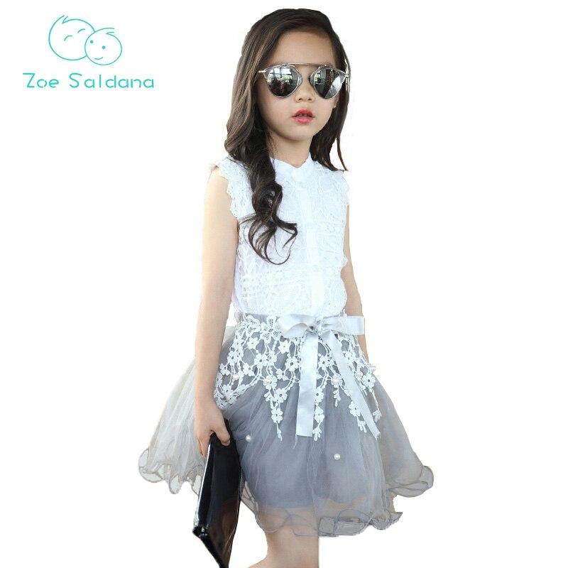 zoe saldana 2017 new fashion summer party patchwork casual girl u0026 39 s skirts princess mesh toddler