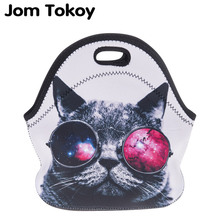 Jom Tokoy sunglasses cat Thermal Insulated 3d print Lunch Ba