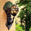 Уличный водонепроницаемый Европейский ретро настенный светильник для гостиной  двора  балкона  коридора  прохода  китайский стиль  светоди...