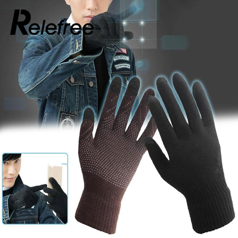 Outdoor Camping Hiking Men Women Screen Gloves Full Finger Smartphone Knit Accessories Winter Hiking Sport Gloves