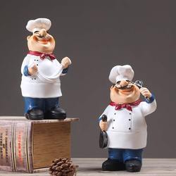 Rural retro Cafe Restaurant Chef Home Furnishing ornament home decor gifts cook figure chief statue kitchener statuette gift