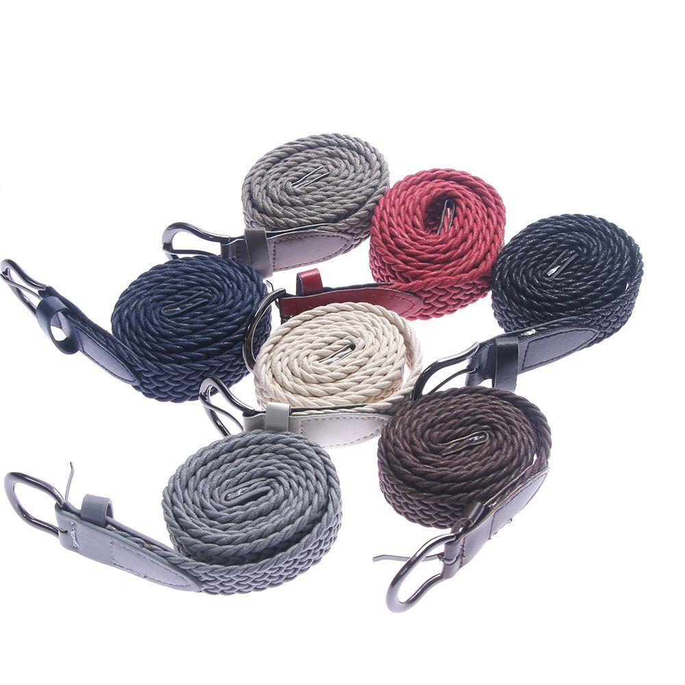 1 unid nueva hebilla de cinturón de cintura tejido de alta calidad de las mujeres de la lona trenzado de alta calidad decorativo Vintage cinturón para los hombres las mujeres