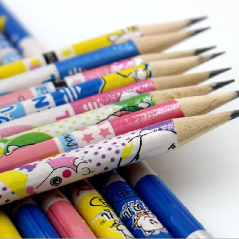 Children 39 s cartoon cartoon HB pencils 12pcs 72pcs set of primary school students writing safe non toxic wood cute creative Lapiz in Standard Pencils from Office amp School Supplies