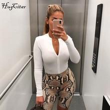 ribbed knit long sleeve zipper high neck bodycon sexy body 2019 autumn winter women fashion club bodysuit