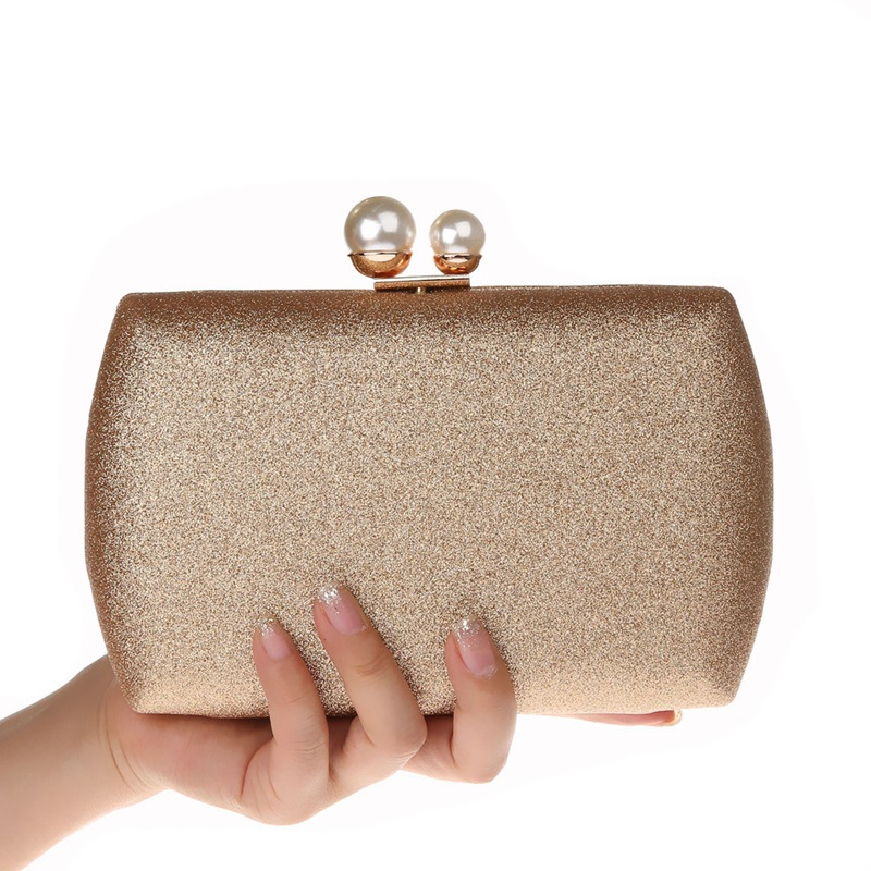 2018 Gold Silber Champagne Abend Taschen Perlen Perlen Kupplung Frauen Geldbörse Handtaschen Geldbörsen Abend Hochzeit Kupplungen Tasche Wy164