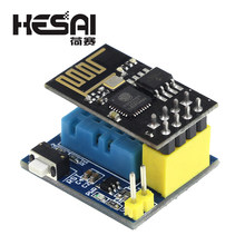 ESP8266 ESP-01 ESP-01S DHT11 Temperature Humidity Sensor Module ESP8266 WIFI NodeMCU Smart Home IOT DIY Kit(China)
